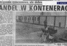 Życie Warszawy z marca 1978 chwali handlowców z WSS Społem i SPHW za pomysł ustawienia trzech kontenerów między Wiolinową i Wokalną. Dzięki nim na osiedlu pojawił się pierwszy sklep wielobranżowy i po płyn Ludwik nie trzeba już zasuwać do miasta.