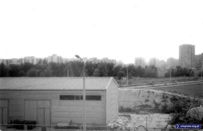 Lanciego róg Migdałowej, widok z Lasku Brzozowego. Data orientacyjna, zdjęcie znalezione, autor poszukiwany.