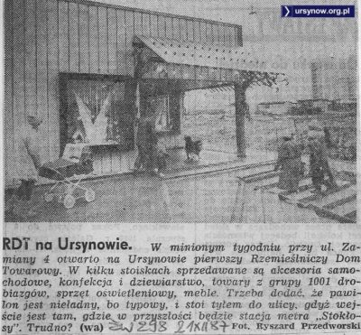 Życie Warszawy o dopiero co otwartym Rzemieślniczym Domu Towarowym na Zamiany. 21 grudnia 1987.