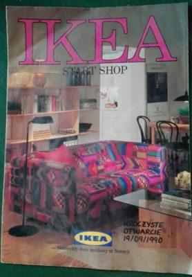 Pierwszy katalog IKEI przygotowany specjalnie na otwarcie pierwszego sklepu. Szyk lat '90 udostępnił w internecie p. Krzysztof Soboń.