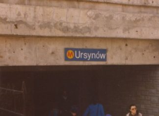 Na trzy lata przed oddaniem do użytku metro zaprasza ciekawskich. Wejście na stację Ursynów. Fot. Adam Myśliński.