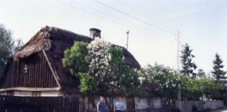 Świadek wiejskiego dziedzictwa Imielina. Bekasów, numer chyba 61. Dziś chaty już nie ma. Fot. Iwona Desperat