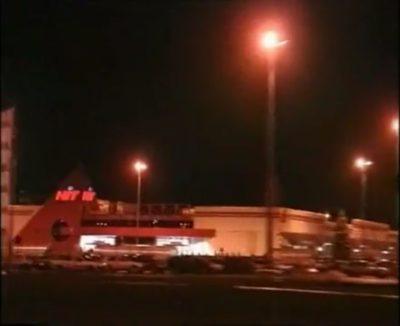 Hipermarket HIT, jedyna nocna gwiazda kabackiego handlu. Niedawno zresztą otwarta. Kadr z filmu promocyjnego Gminy Ursynów.