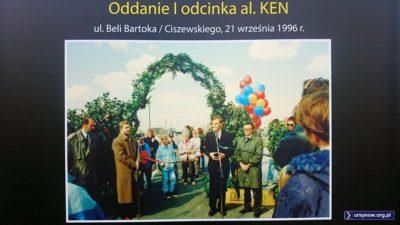 Archiwalne cudo z zieloną bramą, burmistrzem Falińskim i prezydentem Święcickim. Fot. Urząd Gminy Ursynów