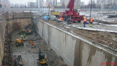 Odsłonięty tunel metra na budowie trasy S2. Fot. GDDKiA.