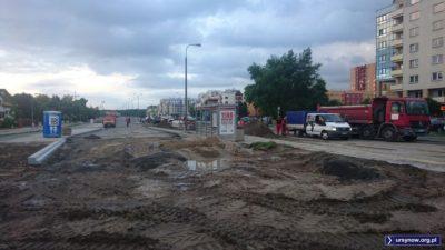 Jest TOI TOI, jest przystanek, będzie ulica. Potrzeby mieszkańców Ursynowa będą zaspokojone. Fot. Maciej Mazur