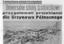 Piękne zestawienie - Express Wieczorny z 1975 zapowiada wielkie plany rewolucji w edukacji i Życie Warszawy piętnaście lat później opisuje zejście Czechów z placu budowy ostatniej szkoły Ursynowa Północnego.