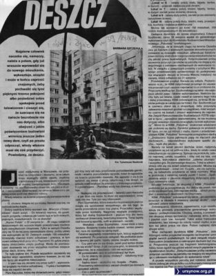 """Trochę popadało i już armagedon na wyższych piętrach. A budowlańcy, zamiast naprawiać, piją sobie winko i zagryzają pasztetem. """"Kobieta i Życie"""", 24.09.1978"""