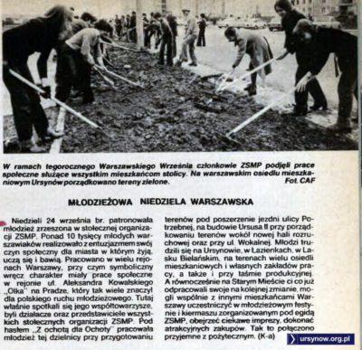 """Czyn Społeczny ZSMP. To jest chyba ulica Bartoka. """"Stolica"""", 40/1978"""