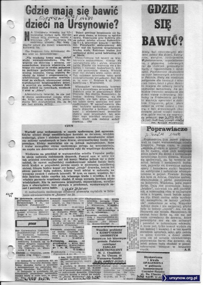 Tytułowe pytanie stawiają: Express Wieczorny (14.05.1980) oraz Życie Warszawy (10.10.1981)