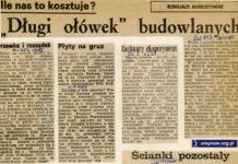 Życie Warszawy z 30 czerwca 1980 o niespodziewanej kontroli trzeźwości na budowie.