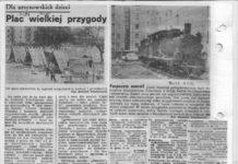 """Zapowiedzi i plany zamiany placu w Plac. Wielkiej Przygody. Życie Warszawy, 1.08.1980. W komplecie jeszcze artykuł o lokomotywie z serialu """"Alternatywy"""" (03.1982)"""