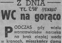 W bloku na Marco Polo z toalety leci ukrop. Trybuna Ludu, 15.12.1980