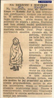 Express Wieczorny, 30.12.1980. Mokną pasażerowie czekając na autobus przy Końskim Jarze.