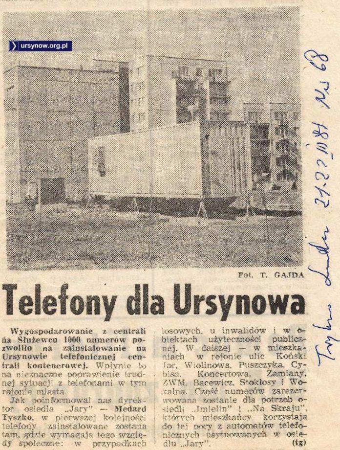 Po czterech latach wreszcie postawiono małą centralę telefoniczną. W kontenerze. Tysiąc szczęśliwców połączy się ze światem.
