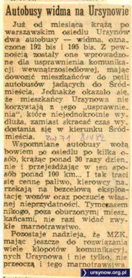 """""""Życie Warszawy"""" z 8 kwietnia 1982 wytyka marnotrawstwo MZK."""