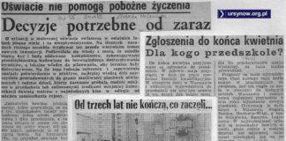 Stan wojenny. Generał wykończył Solidarność, ale przedszkola na Koncertowej wciąż wykończyć nie może. Takie Życie. Warszawy.