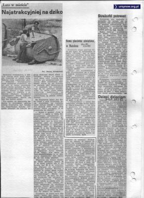 """Dlaczego dzieci wolą zabawy na śmietniku od """"Lata w mieście"""" pyta Życie Warszawy z 16.07.1982"""