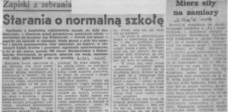 Otwarto wreszcie pierwszą część SP309 na Koncertowej. Dyrekcja zajmuje się chwilowo odpowietrzaniem kaloryferów i podobnymi zajęciami praktycznymi. Życie Warszawy, grudzień 1982.