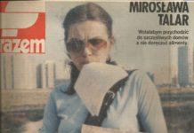 """Portret ursynowskiej listonoszki na betonowej pustyni. Chociaż wtedy nazywaną ją oficjalnie """"doręczycielką"""". Pamiętacie może panią Mirosławę przedstawioną w Razem z września 1983?"""