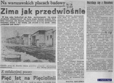Zaczyna się szósty rok budowy osiedla domków jednorodzinnych przy Elegijnej. Obok relacja z siódmego roku. Życie Warszawy, 1984/85