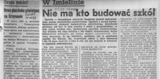 Dosyć gorzki reportaż z uroczystości nadawania imienia Michała Byliny szkole 310 na Hawajskiej. Polityka, maj 1984.