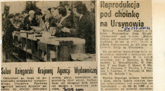 Życie Warszawy, 4 grudnia 1984. Przy Końskim Jarze otwarto właśnie księgarnię Krajowej Agencji Wydawniczej.