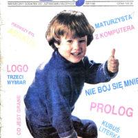 """Pierwszy kolorowy numer """"Bajtka"""", rok 1986. Wcześniej magazyn miał format zeszytowy, teraz zrobił się popularny jak ZX Spectrum."""