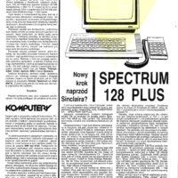 ZX Spectrum 128 z klawiaturą numeryczną! Niestety, nie przyjął się zbytnio. Woleliśmy klasyczny model 48.