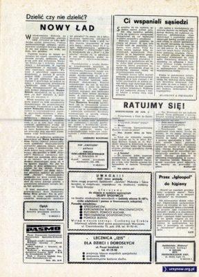 """Tygodnik """"Pasmo"""", pierwszy numer, str. 2"""