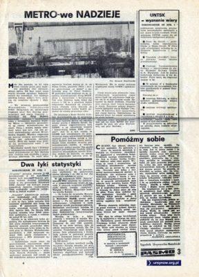 """Tygodnik """"Pasmo"""", pierwszy numer, str. 3"""