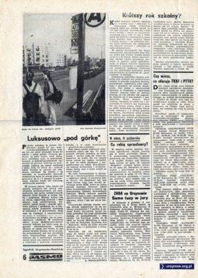"""Tygodnik """"Pasmo"""", pierwszy numer, str. 6"""