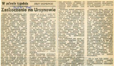 """""""Życie Warszawy"""", 4.10.1989. Zdemontowano strasznie hałasujący most tymczasowy na Płaskowickiej."""