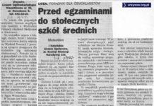 Kwiecień 1993. To już zupełnie nowe czasy. Życie Warszawy przedstawia ofertę szkół niepaństwowych.