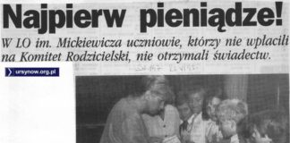 A to ciekawa informacja. PWSBiA koło Lasu Kabackiego? Z tej transakcji nic chyba jednak nie wyszło. Na zakończenie przeglądu prasy edukacyjnej wręczmy więc świadectwa i życzmy udanych wakacji 1993 roku.