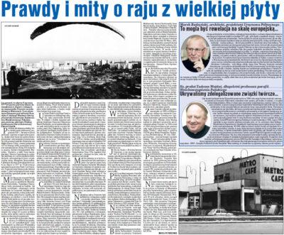 """Maciej Petruczenko, szef tygodnika """"Passa"""", wspomina początki Ursynowa. 12 stycznia 2017. Autorem zdjęć jest Jerzy Bojarski."""