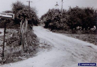 Wylot ulicy Strzemiennej na Rolną, 19 maja 1974. W tym miejscu mniej-więcej wypadają dziś okolice Domu Sztuki. Zdjęcie ze zbiorów Rodziny Pytko