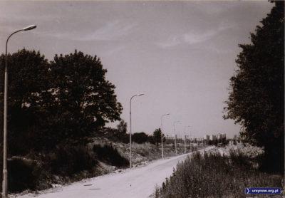 Ulica Barwna w kierunku widocznego w tle Służewa nad Dolinką. Zdjęcie zrobione z obecnego ronda przy Czerwoniaku. Ciekawe, co to za stara willa wystaje po prawej stronie? Zdjęcie ze zbiorów rodziny Pytko.