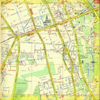 Centrum miasta jeszcze bez Trasy Łazienkowskiej. Dworzec Centralny to taka buda zakopana w ziemi. Plan Warszawy PPWK, 1970