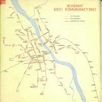 Dwie linie trolejbusowe i tramwaj do Wilanowa. Plan Warszawy PPWK, 1970
