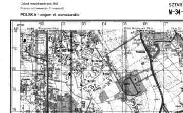 Mapa sztabowa 1983