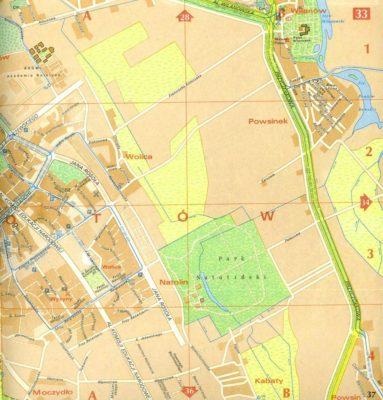 Do Alei KEN, Rosoła i ulic na Kabatach nie należy się przywiązywać. Zasadniczo to tylko kreski na mapie. Plan PPWK, 1987
