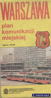 Plan PPWK może i przedstawia stan komunikacji miejskiej z roku 1988, ale okładka zdecydowanie odbiega od rzeczywistości. Pod koniec lat '80 widoczne tu Berliety należały już do rzadkości. Nadesłał Maciej Linczuk.