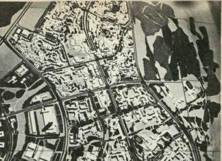 Projekt całego pasma ursynowsko-natolińskiego, rok najpóźniej 1975. Ursynów Południowy nieco odbiega od tego, na co w efekcie się zdecydowano. Natolin jest wciąż polem do popisu, ale koncepcja pasmowa pozostaje bez zmian.