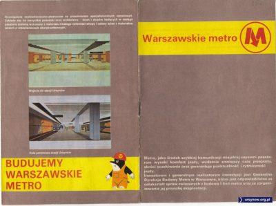 Krecik drąży tunele, a dla mieszkańców drążących temat metra mamy ulotkę. 1988 rok.
