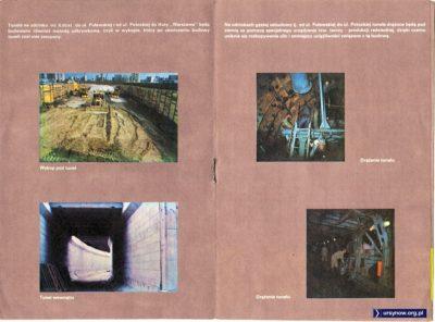Obrazki z folderu metra wypuszczonego w 1988 roku.