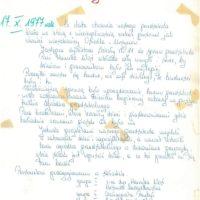 Mamy październik 1977, rusza pierwsze przedszkole na Ursynowie. Pamiątkowy wpis przypomina, że początki nie były łatwe. Kronika Przedszkola 283.