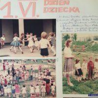 """W dzień dziecka 1984 tańczy się do największego przeboju roku, czyli do muzyki z """"Akademii Pana Kleksa"""". Witajcie w naszej bajce! Kronika Przedszkola nr 283."""