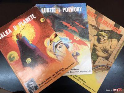 """Trzy zeszyty z serii KAW """"według von Daenikena"""". 1984-86"""